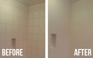 Before and After Bathroom Cleaning