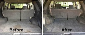 Before and After Car Interior Cleaning